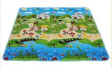 Mat,kids safety+gym mat, double-faced paradise climb blanket floor letter foam animal