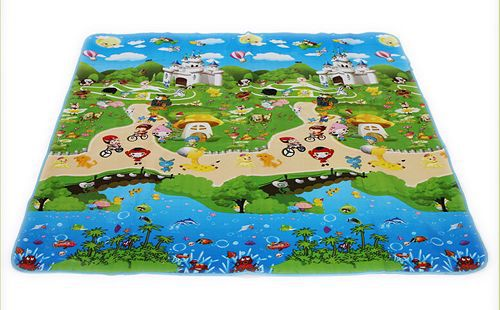 beach font b Baby b font toy double faced foam Play Mat Letter animal paradise Safety
