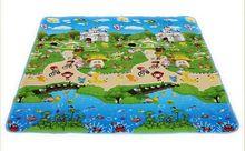 Playa Del juguete Del Bebé de doble cara de espuma Estera del Juego, carta paraíso animal de Seguridad + Gimnasio Alfombra del piso, Kids Climb Manta 270370