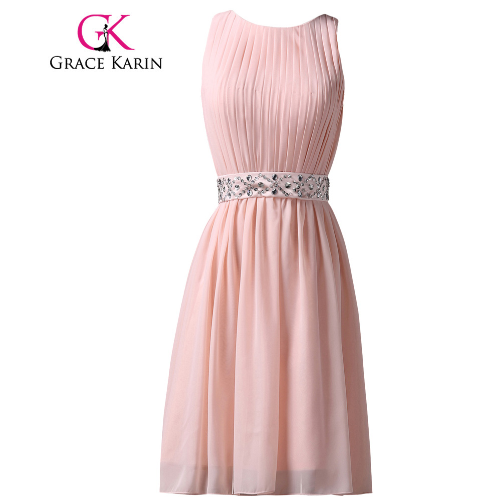 Gracia Karin Vestido de Fiesta Corto Pink Longitud de La Rodilla Del ...