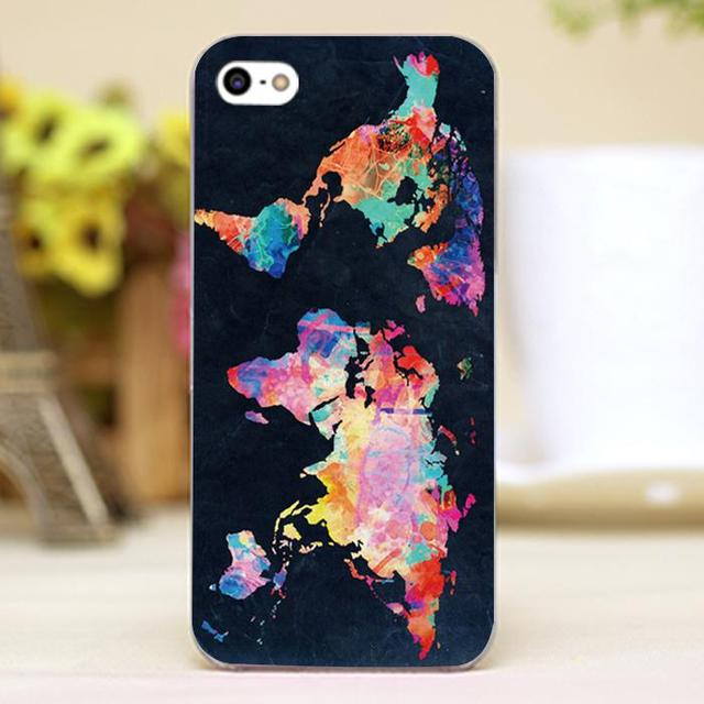 Colorful world map design customized transparent case cover cell colorful world map design customized transparent case cover cell mobile phone cases for apple iphone 6 gumiabroncs Images
