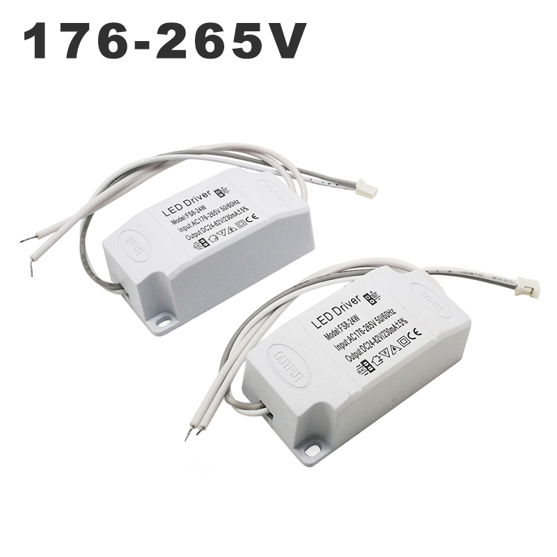 220V 8-24W LED Driver Constant Current 230mA DC 24-82V Output Power Supply Adapter Lighting Transformer For LED Ceiling Light
