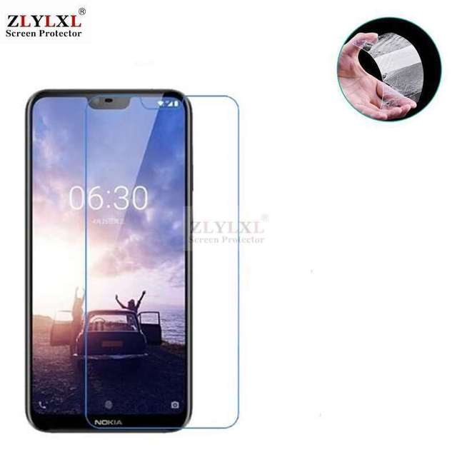 2 pcs alot Tempered Glass screen protector for Nokia 6.1 plus