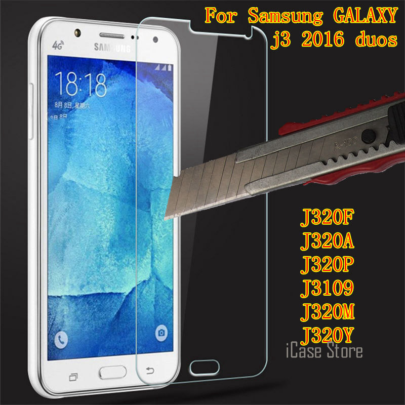 Tempered Glass For Samsung GALAXY j3 2016 duos Screen Protector For samsung sm J310 J3100 J320F J320A J3109 sklo glas an mobil