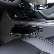 ABS 2pcs Center Console Both Side Frame Decoration Cover Trim For Jaguar F-Pace X761 2016-2017 Carbon Fiber Style carbon fiber style center console gear shift panel decoration cover trim for jaguar xe x760 f pace x761 2016 18 abs modified