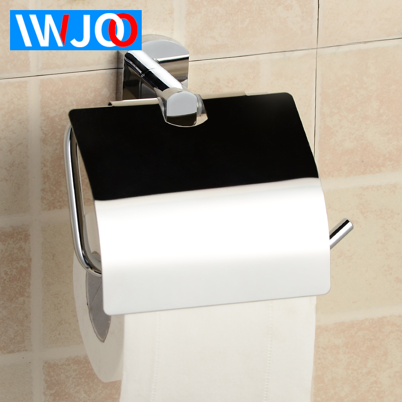 Toilet Paper Holder Cover Waterproof Brass Tissue Roll Towel Wall Mounted WC Rack
