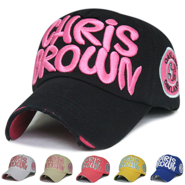 CHRIS BROWN Baseball Cap Men Women Fashion Vintage Sun Caps Cotton Sports  Letters Visors 9e21da12348