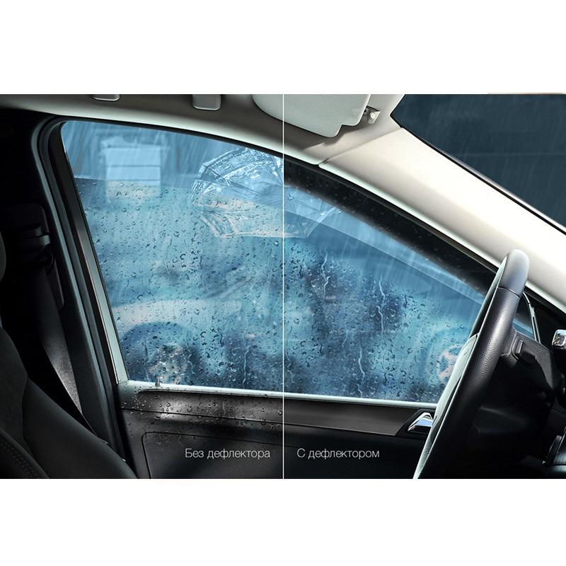 Déflecteurs de fenêtre Vinguru Hyundai Accent 2000-2011 K-M de bande d'armure 4 pièces, matériau de moulage par injection polycarbonate - 2