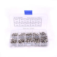 340pcs/set M3 Pan Head Screws and Nuts Assortment Kit Set Stainless Steel Screw Nut Hardware for FPV Drone