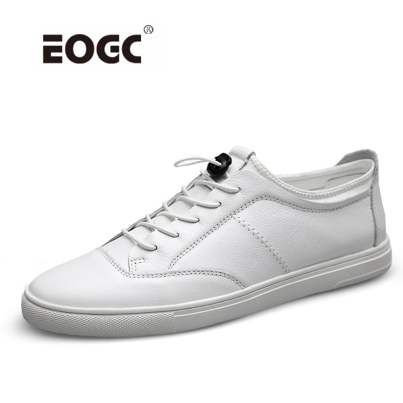 Fashion Men Shoes Lace-up Men Casual Shoes Loafers Natural Leather sneakers Outdoor Flats Shoes for Men