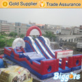FREE SHIPPING BY SEA Factory Direct Inflatable Obstacle Course Inflatable Slide With Double Lane