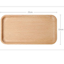 25*13cm wooden plate eucalyptus long plate solid wood tableware plate children's plate bread sushi kitchen baking tray