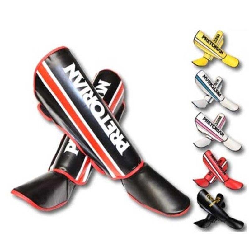 PRETORIAN Brand Shin Guards kick boxing protector Sanda taekwondo boxing Leggings Ankle protection for MMA Muay thai shin pads