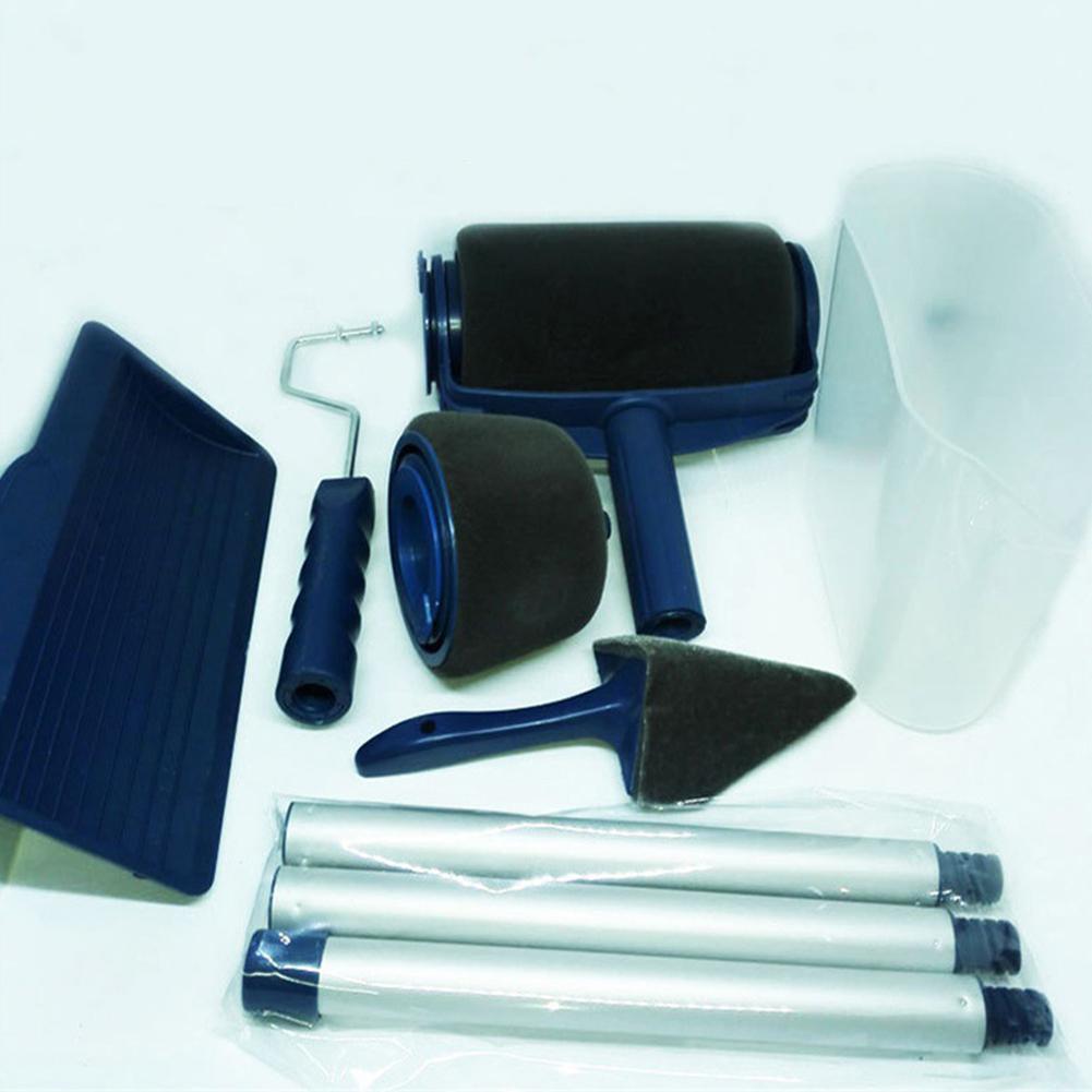 LanLan 6 piezas multifuncional rodillo de pintura cepillo pared herramienta de pintura jardín herramientas rodillo Runner Pro Rullo Pittura