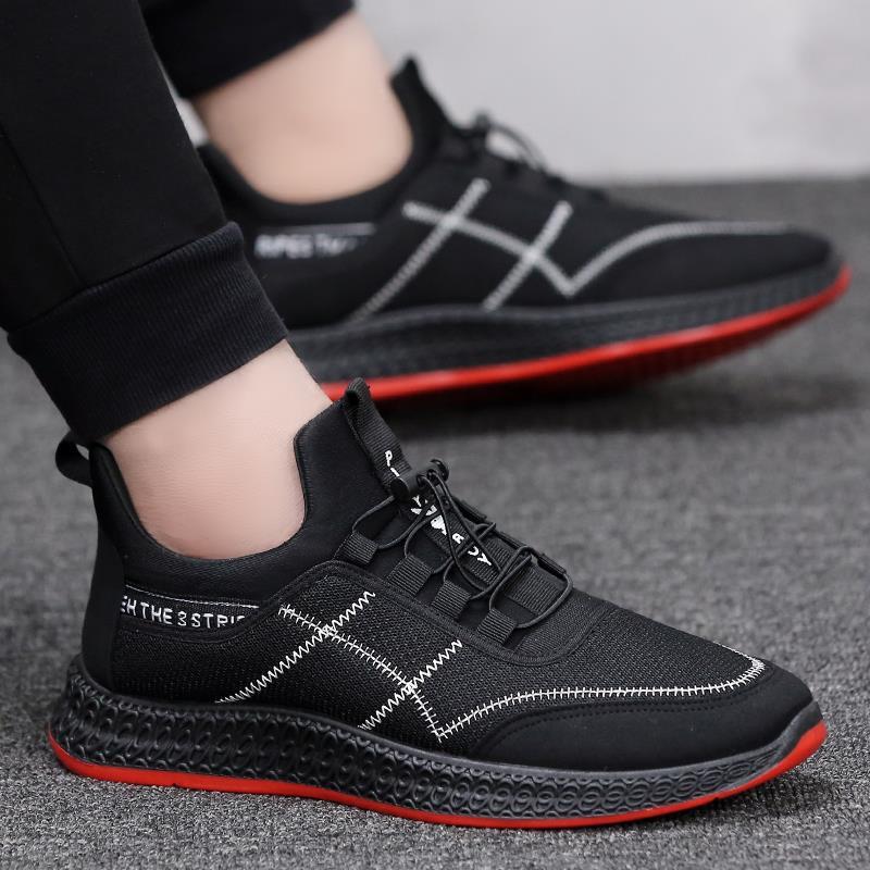 Caminhada Novos Para Confortável White Casuais Leve Lace Black Tênis E Homens Malha Sapatos up black Shoes Respirável Red Oq74BrOz