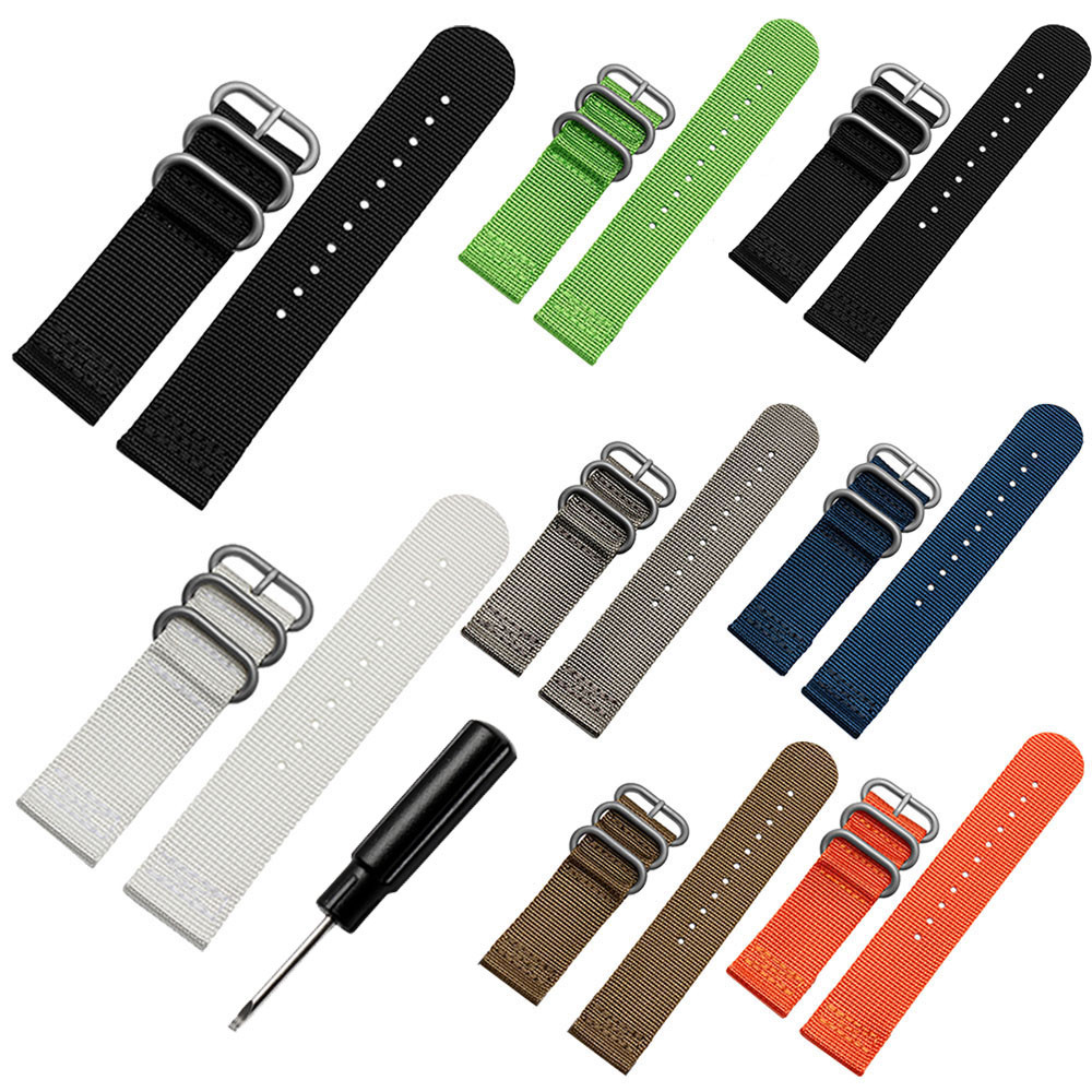 High Quality Wristwatch Band Luxury Nylon Replacement Watch Wrist Band 3 Ring Lugs For Suunto Core Watches Accessories цена и фото