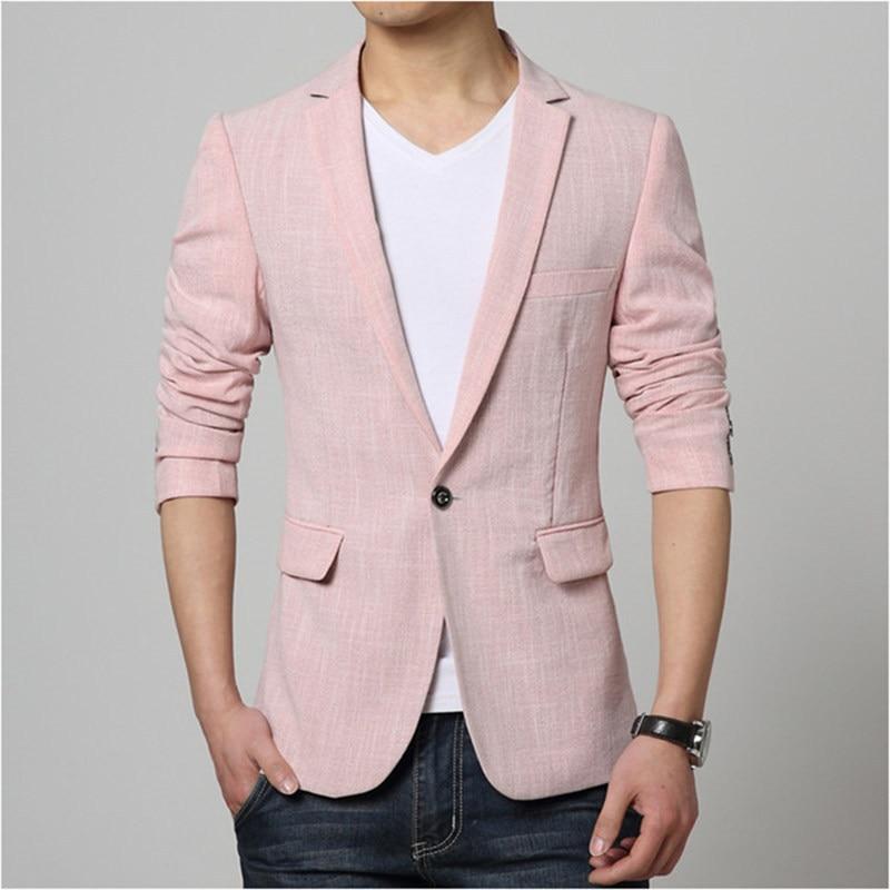 Mens Pink Jacket - Coat Nj
