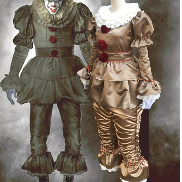 2017 Terror Clown Stephen King S It Movie Halloween Costumes For Men