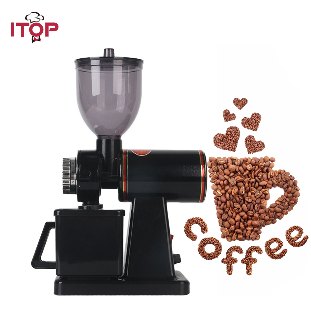 ITOP Coffee Grinder Electric Fresh-Grind Coffee Bean Grinder with Stainless Steel Blade for Bean Seed Nut Spice Herb Pepper aluminum alloy four layer herb spice pollen grinder nickel black