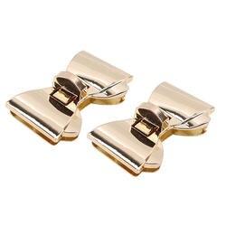 Форма банта застежка поворотные замки твист замок DIY кожаная сумка фурнитура для сумок аксессуары золото