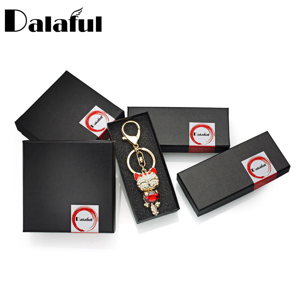 Favors And Gifts Box (without Product) Black Paper Gift Box For Keychain Necklace Bracelet Packaging Jewelry Box