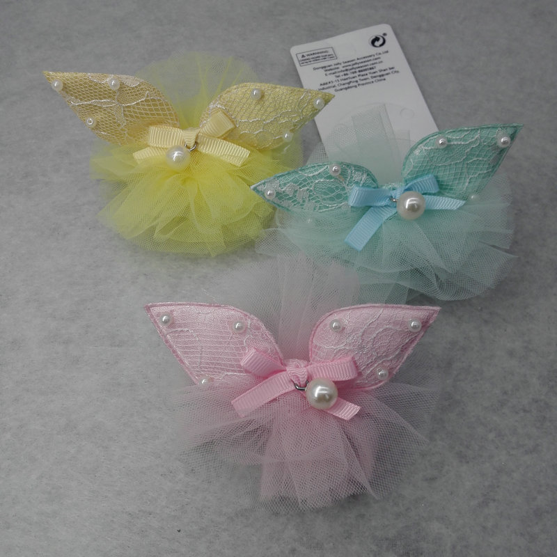 FJ50271 Hot lovely Baby kids Princess lace Hair Clip children Boutique pearl Headband Hairpins girl Rabbit ears Accessories