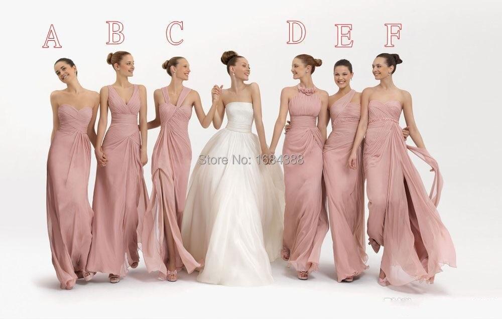 2015 nuevo Convertible vestidos largos vestido de dama multicolor ...