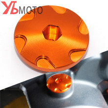 2018 Orange CNC Aluminum Car Racing Engine Cover Camshaft Plug For KTM DUKE 125 200 250