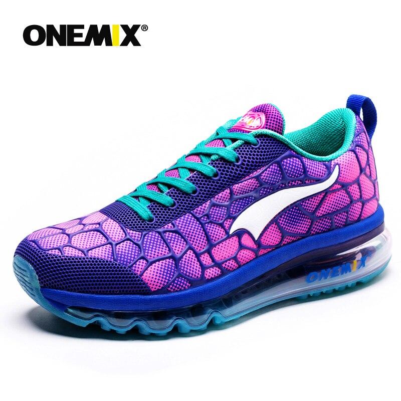 Onemix femmes Sport baskets coloré Zapatillas Sports en plein air marche baskets respirant Gym chaussures femme Trail course chaussures