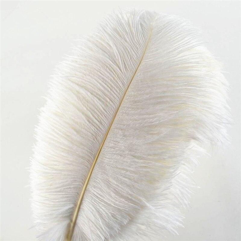 Wholasale Elegante Piume Bianche di Struzzo per Artigianato 15-75cm di Festa di Nozze Forniture di Carnevale Ballerino Decorazione plumas Piumaggi
