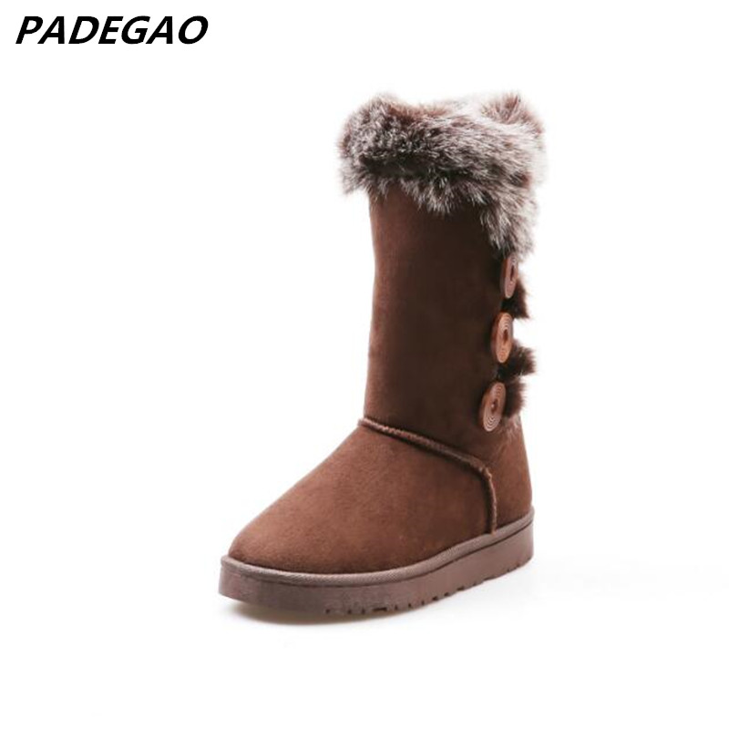 Lady Ankle Winter Brand Button Snow Boots Classic Ug Style Women Warm High Quality Australian Shoes Casual Boots Plus Size35-41