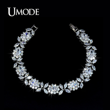 UMODE Bijoux Trendy White Gold Color Top Grade Multishaped AAA CZ Tennis Bracelets For Women Luxury