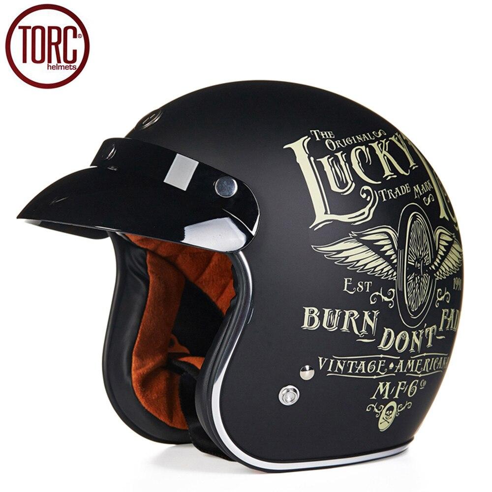 torc cruiser motorcycle helmet harley 3 4 open face vintage helmet t505 moto casque casco. Black Bedroom Furniture Sets. Home Design Ideas