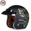 Torc capacete da motocicleta cruiser harley 3/4 face aberta capacete t505 moto casque casco motocicleta do vintage capacete capacetes dot