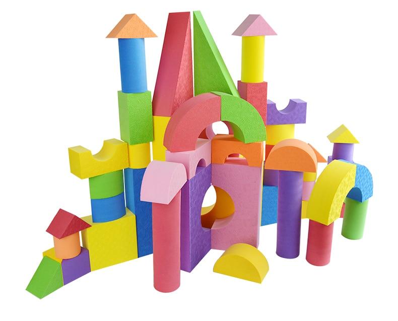 Grand blocs de construction en mousse promotion achetez for Foam blocks building construction