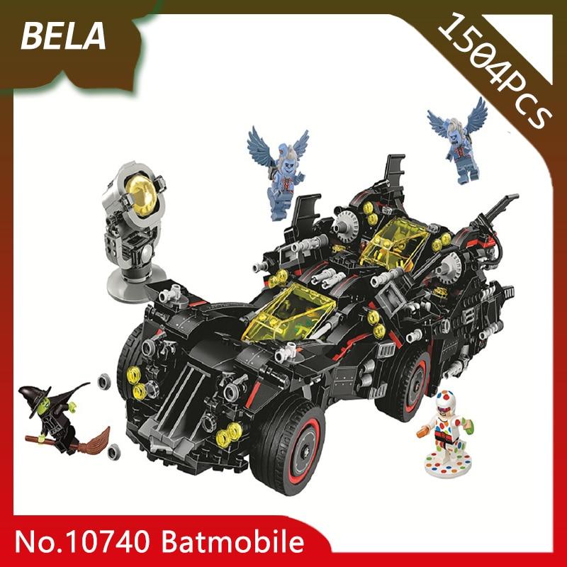 Bela 10740 Super Heros 1504pcs Batman Movie The Ultimate Batmobile Building Blocks Bricks Children Toys Gifts Compatible 70917 china brand bricks toy diy building blocks compatible with lego batman movie the batmobile 70905