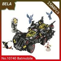 Bela 10740 Super Heros 1504pcs Batman Movie The Ultimate Batmobile Building Blocks Bricks Children Toys Gifts Compatible 70917
