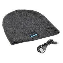 Беспроводная Bluetooth шапка, зимние теплые шапочки с V3.0+ EDR Bluetooth, музыкальная шапка Skullies, крутая вязаная шапка унисекс