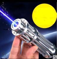 HOT! High Power 8000000m Blue Laser Pointers 450nm Lazer Flashlight Burning Match/Burn light cigars/candle/black Hunting