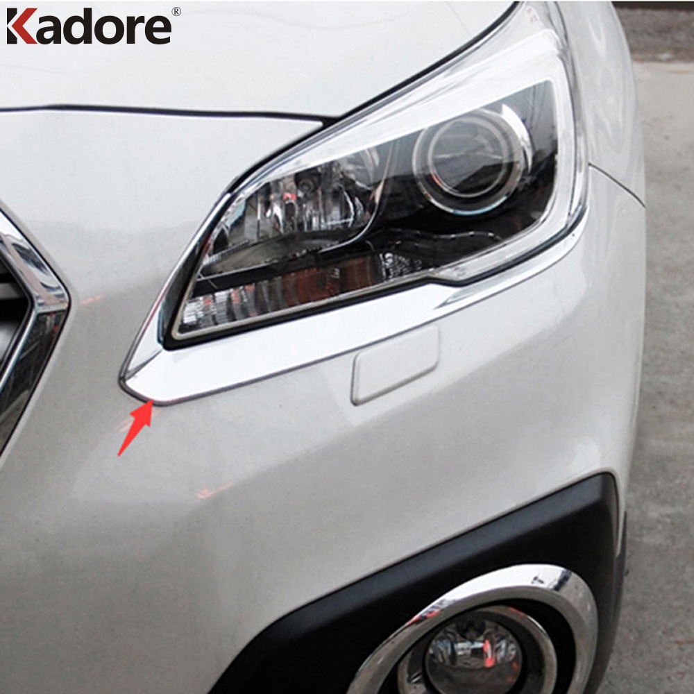 For Subaru Outback 2015 2016 ABS Chrome Eyebrow Light