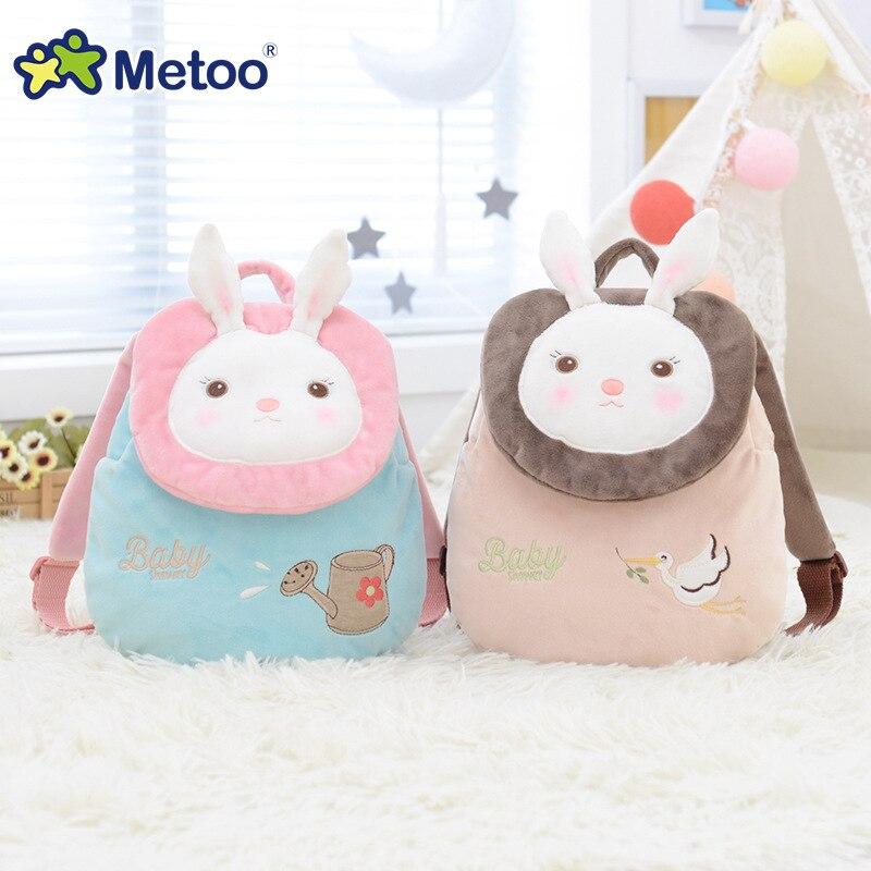 Metoo Backpack Doll Kids Toys Tiramitu Plush Bags Rabbit Kawaii Backpack Toy For Children Shoulder Bag For Kindergarten Girl