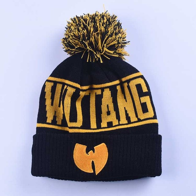 NEW Wu-Tang Clan Beanie Skullies Knitted Wu Tang Hat HipHop Winter High Quality