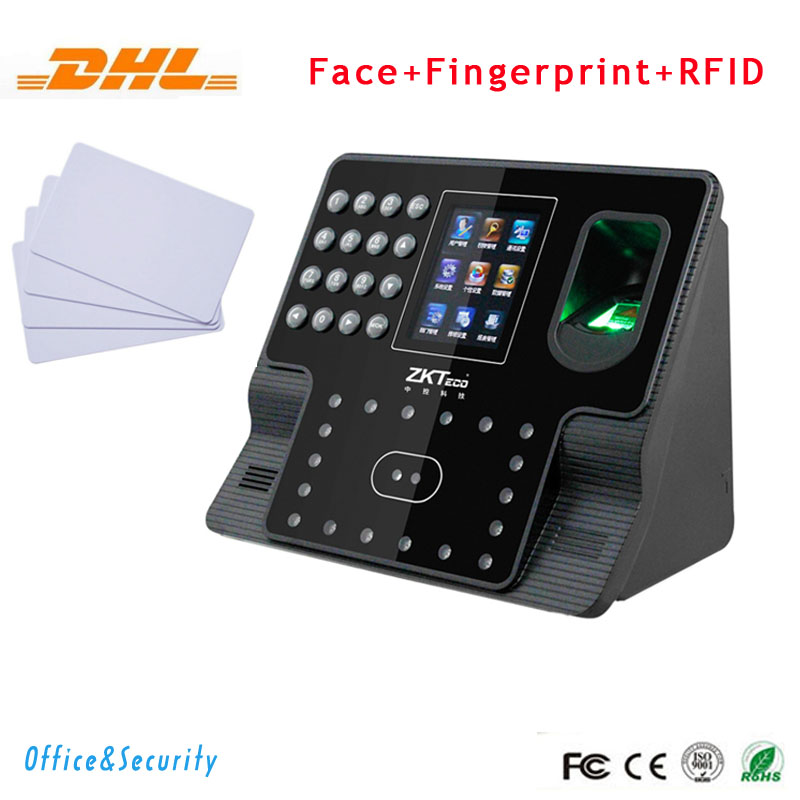 Free DHL Face + fingerprint+RFID card recognition time attendance  Access Control  TCP IP RS485 232 USB time clock Iface102 free shipping zkteco iface302 face time attendance access control with wifi function
