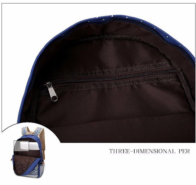 Canvas Printing Backpack Women School Bags for Teenage Girls Cute Bookbags Laptop Backpacks Female Bagpack 3 Piece one Set 14