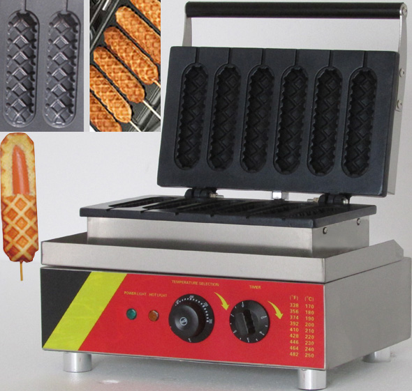 где купить 220V or 110V Corn mould of hot dog grill/ Corn oven/ hot gog lolly waffle maker по лучшей цене