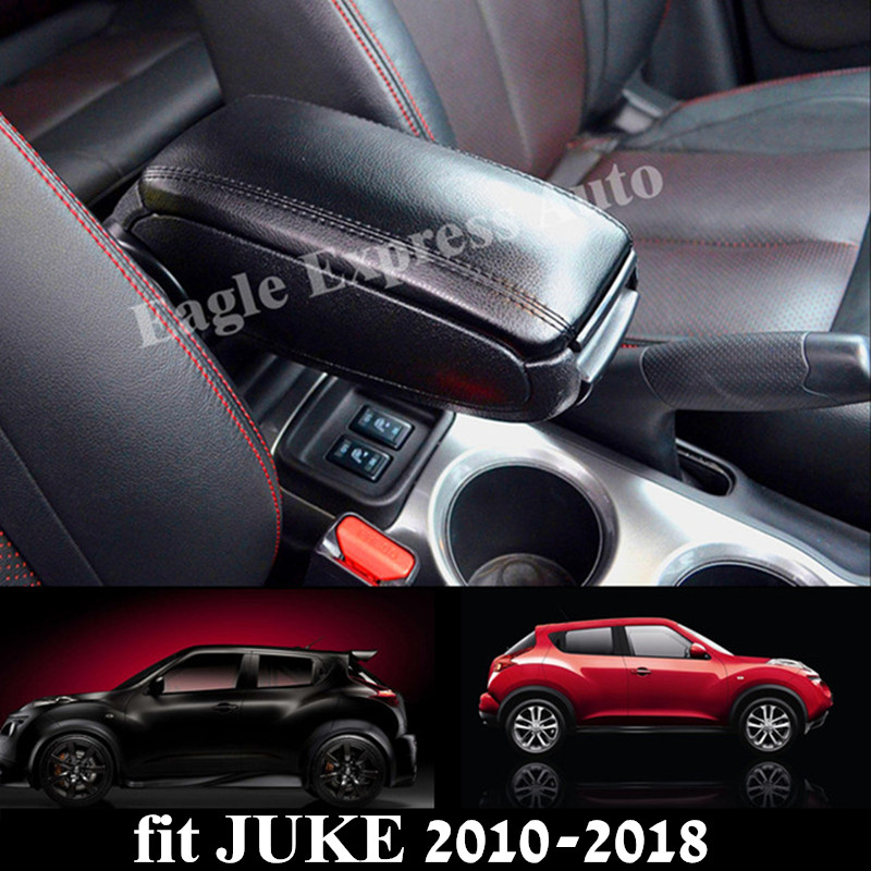 For Nissan Juke 2010-2018 Leather PU Armrest Box Central Storage Content Box Interior Armrest Storage Center Console Box leather car interior parts center console armrest box for nissan kicks 2016 2017 2018 auto armrests storage with usb