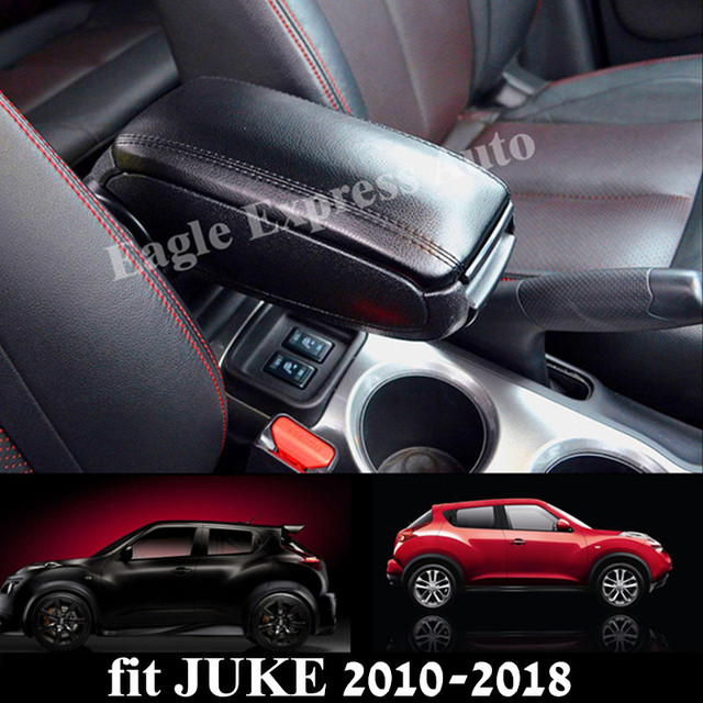 For Nissan Juke 2010-2018 Leather PU Armrest Box Central Storage Content Box Interior Armrest Storage Center Console Box