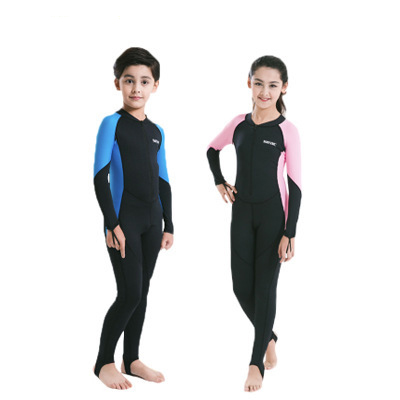 Neoprene Wetsuits Kids Swimwears Diving Suits Long Sleeves Boys Girls Surfing Children Rash Guards Snorkel One Pieces