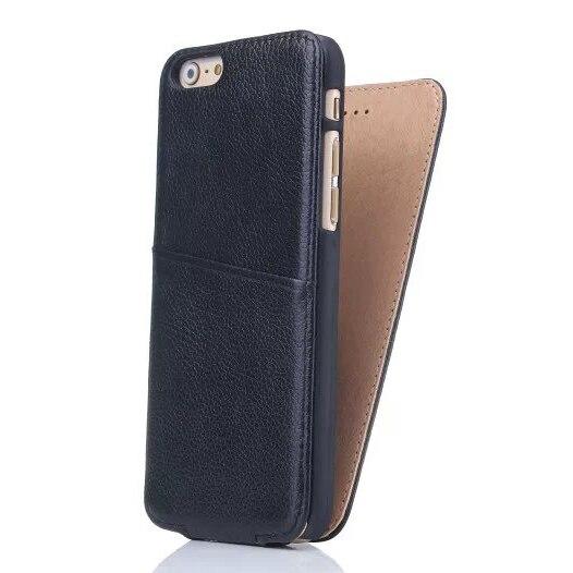 bilder für I6 Luxus Echtem Ledertasche Vertikale Schlag-abdeckung fall Für Iphone 6 6 S Mit Karte Tasche schutzhülle Echt Leder fall