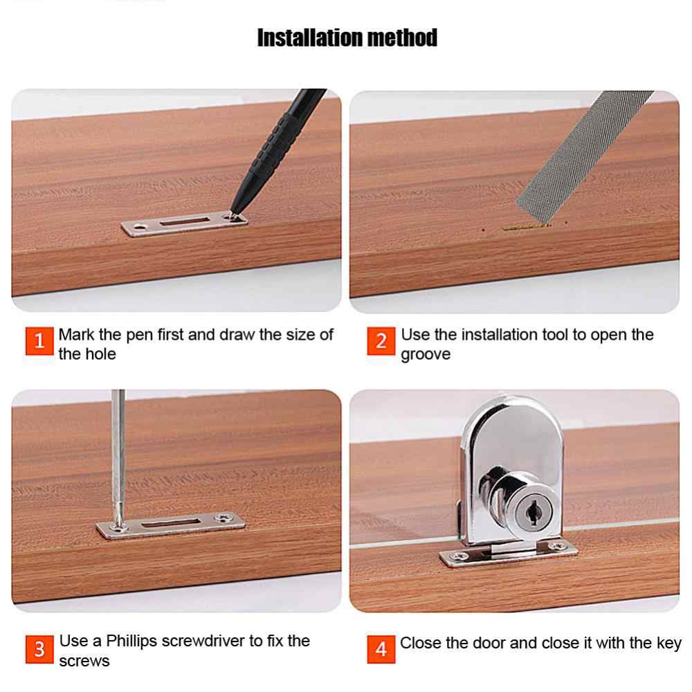 Zinc AlloyDrawer Locks with Keys Lock Furniture Hardware Door Cabinet Lock  keep Safty and Security with Keys Office Home